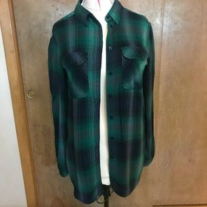 Urban Outfitters BDG Green Plaid Button-Down Shirt